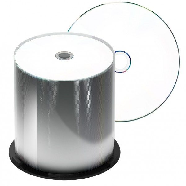 image regarding Printable Blank Cds referred to as 100-Pack White Thermal Printable CD-R Discs