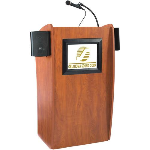 Oklahoma Sound 612S Vision Floor Lectern with LCD Display