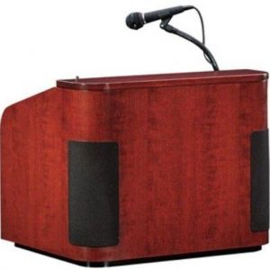 Oklahoma Sound 950-CH/CH Wood Veneer Sound Table Top Lectern