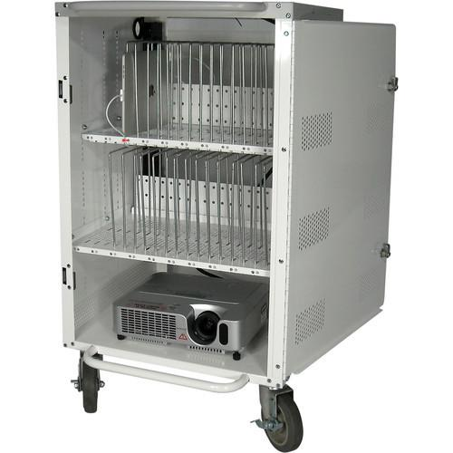 Buhl Industries 30-Bay Tablet and iPad Charging / Storage Cart