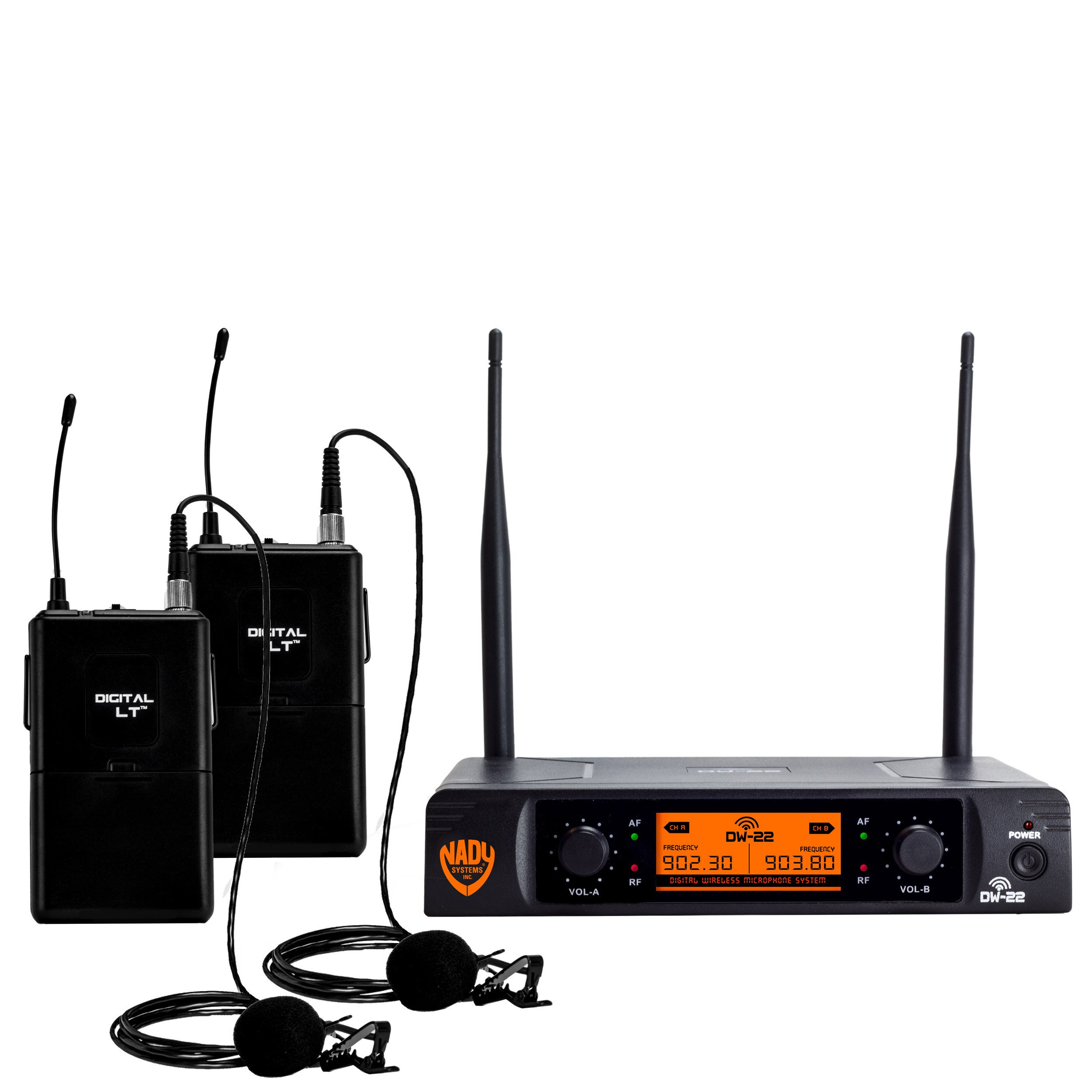 Nady DW-22 Dual Digital Wireless Lapel Microphone System