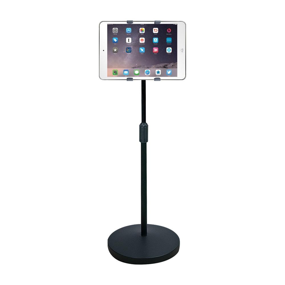 "HamiltonBuhl iPad/Tablet Universal Mount Floor Stand, Height Adjustable from 37.6"" to 56.5"""