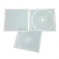 DVD/CD Clear Poly Jewel Cases 1 Capacity