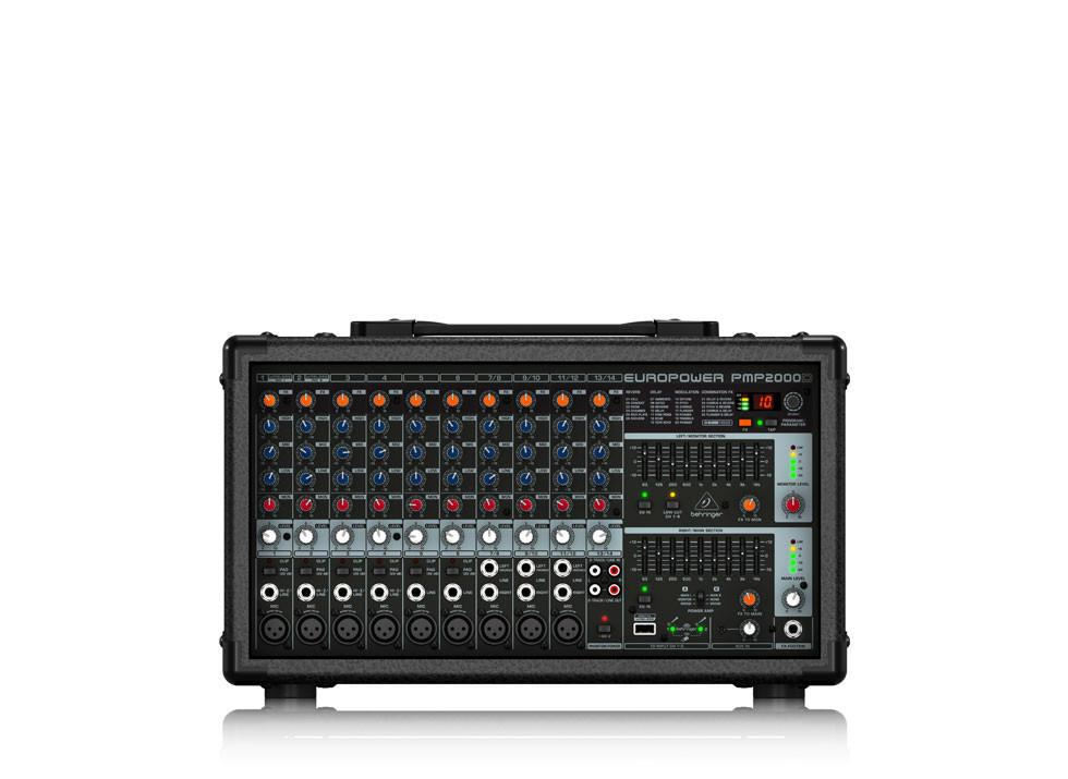 FREE SHIPPING! Behringer PMP2000D  14 Channel Audio Mixer 2000 Watt