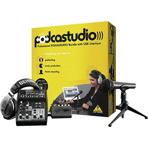 Behringer Complete PODCASTSTUDIO Bundle with USB/ Audio Interface