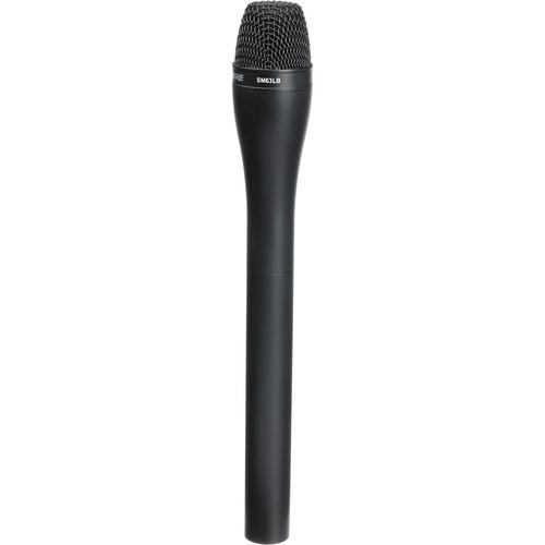 Shure SM63LB - Omni-Directional Handheld Dynamic ENG Microphone with Extended Handle (Black Finish)