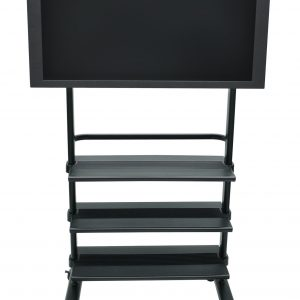 Luxor WFP100-B - LCD TV Stand w/ Shelves
