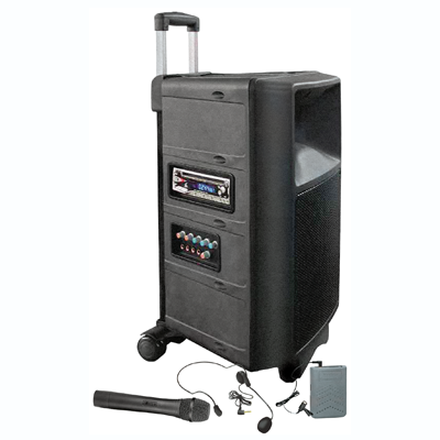 Audio2000 Pull-N-Go All-In-One Portable PA System
