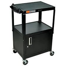 Luxor AVJ42C Adjustable Multipurpose A/V Cart with Locking Cabinet