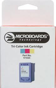 Microboards MCRV102C Tri-Color Cartridge for the CX-1; PF-3