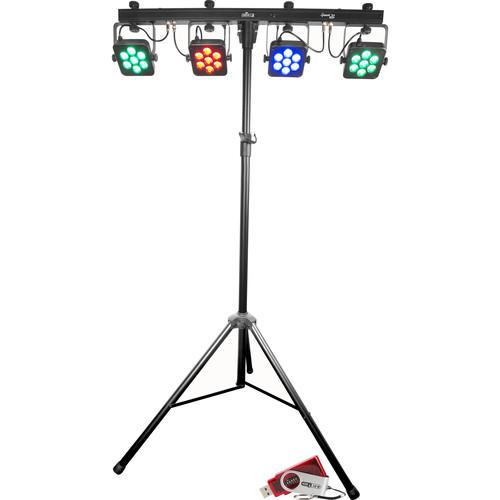Free Shipping! CHAUVET 4BAR Tri USB Wash Lighting Kit