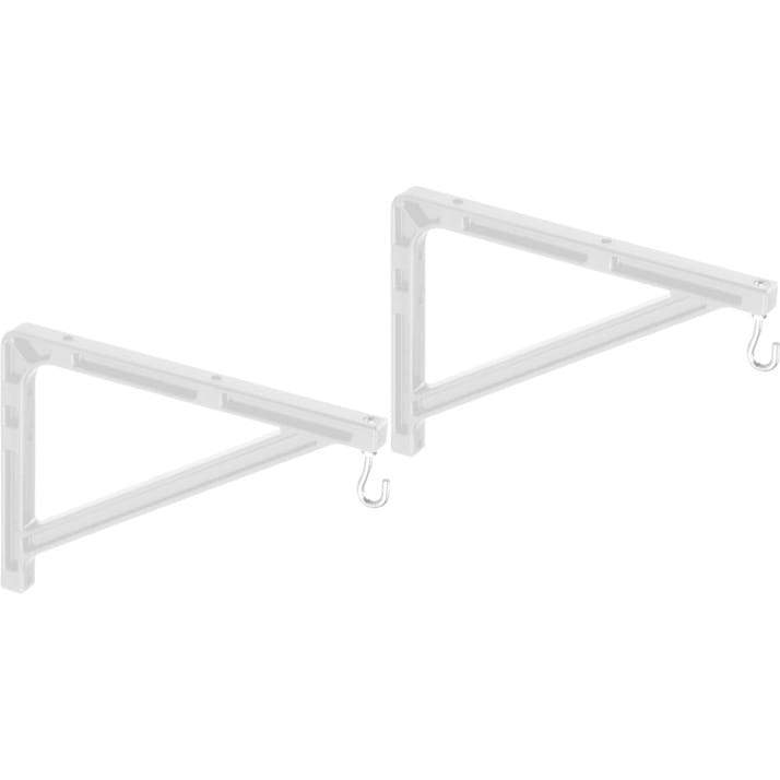 "Da-Lite 40957 10-14"" Wall Mount Brackets (Extends 14"", Pair, White)"