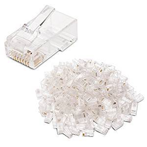 100-Pack Cat 5 RJ45 Modular Plugs