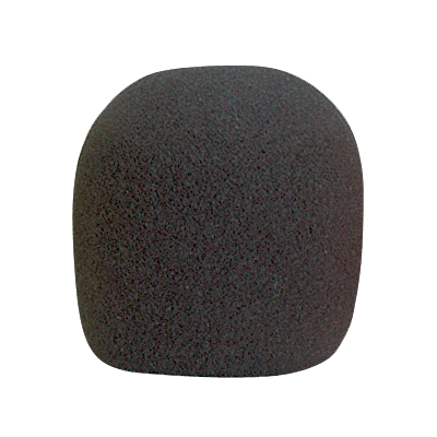 Black Foam Microphone Windscreen