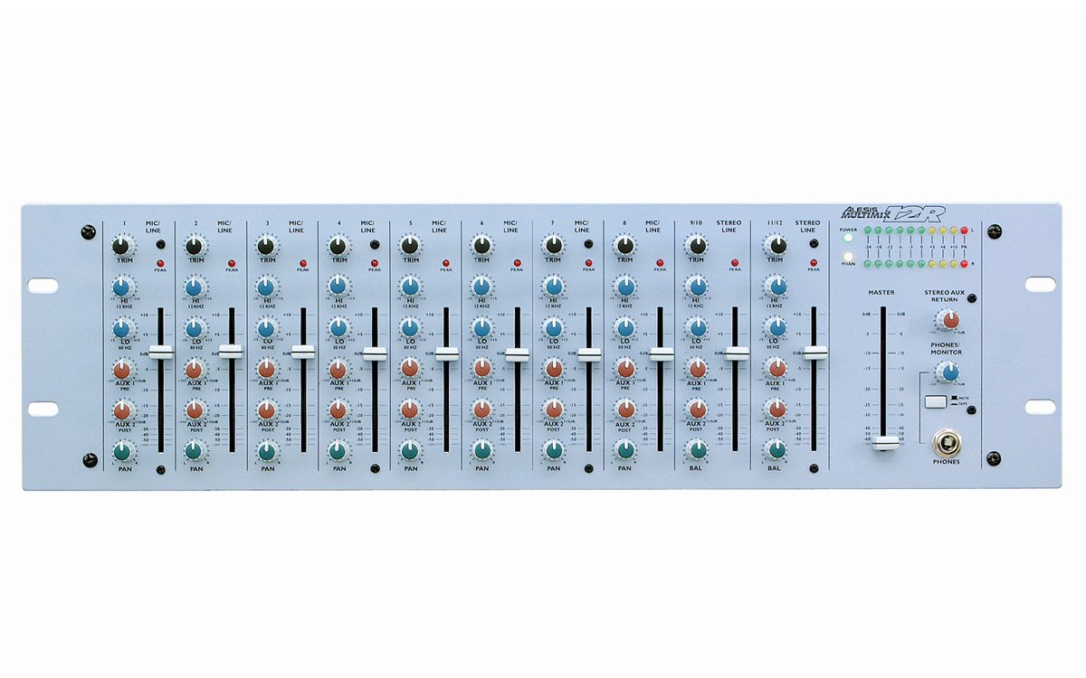 Alesis MultiMix 12 Wireless 1-Channel Rackmount Mixer with Bluetooth Wireless