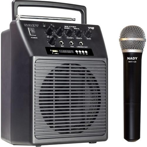 Nady WA-120BT VHF Portable Wireless PA Full-Range Bluetooth Speaker System