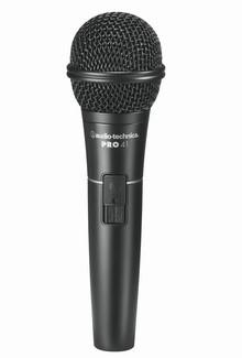 Audio-Technica PRO41 Cardioid Dynamic Handheld Microphone with 15ft XLR Cable