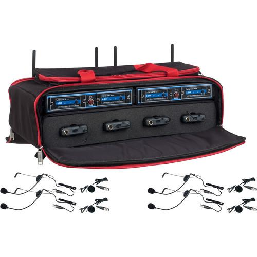 VocoPro UDH-PLAY-4-MIB 4-Channel Hybrid Wireless Headset/Lapel Microphone System in a Bag